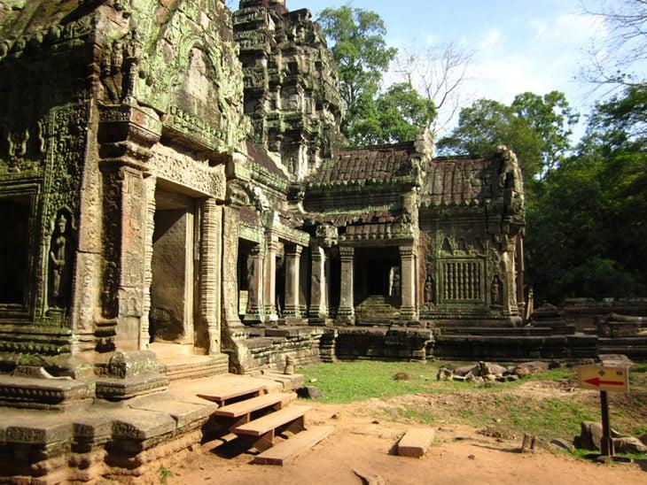 Detalle del templo de Angkor, India