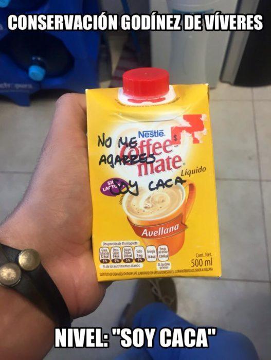 meme crema para café que es popó