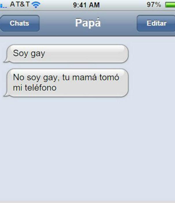 Mensaje entre padres e hijos: Papá manda un mensaje diciendo que es gay