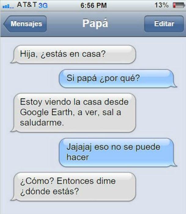 Mensaje entre padres e hijos: Papá manda mensaje a su hija para decirle que salga a saludarlo por Google Earth