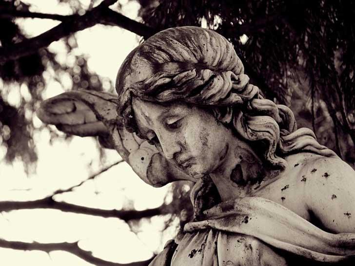 arte funerario, ángel triste