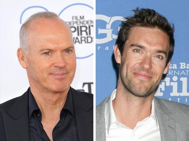 Comparación entre Michael Keaton y su hijo Sean Douglas