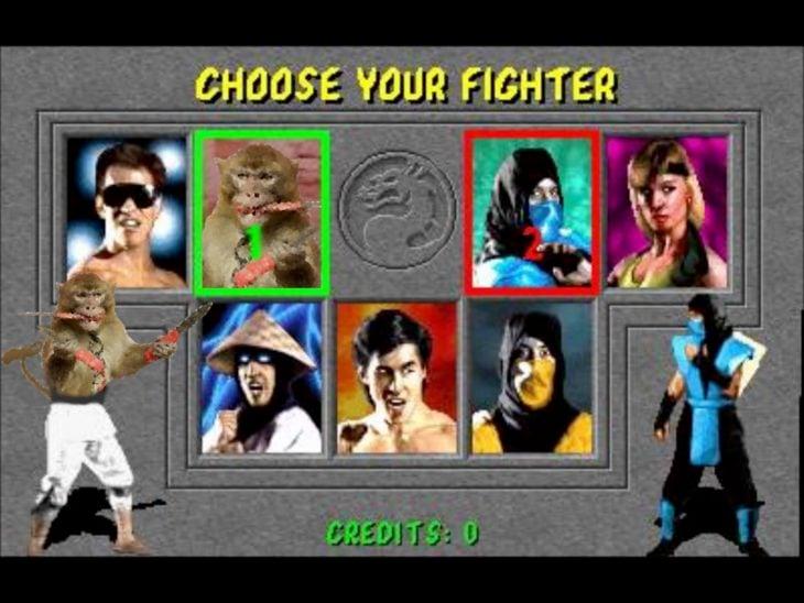 mono con dagas en Mortal Kombat