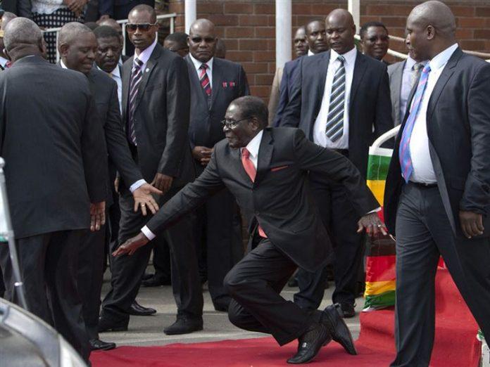 Tropiezo de mandatario africano