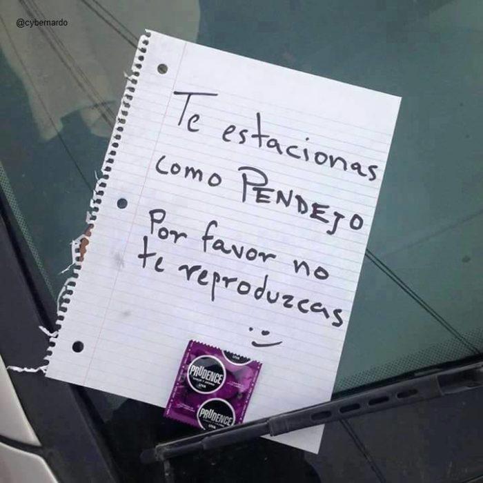 Nota aprender a estacionarte