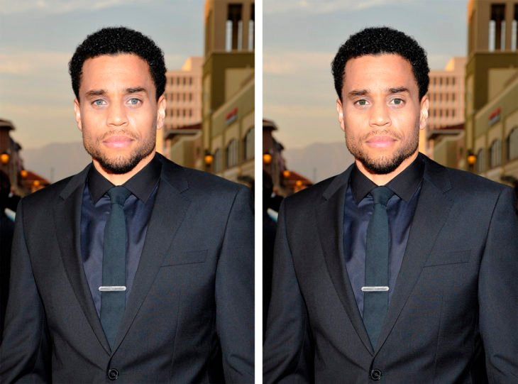 Comparación de ojos de color en Michael Ealy