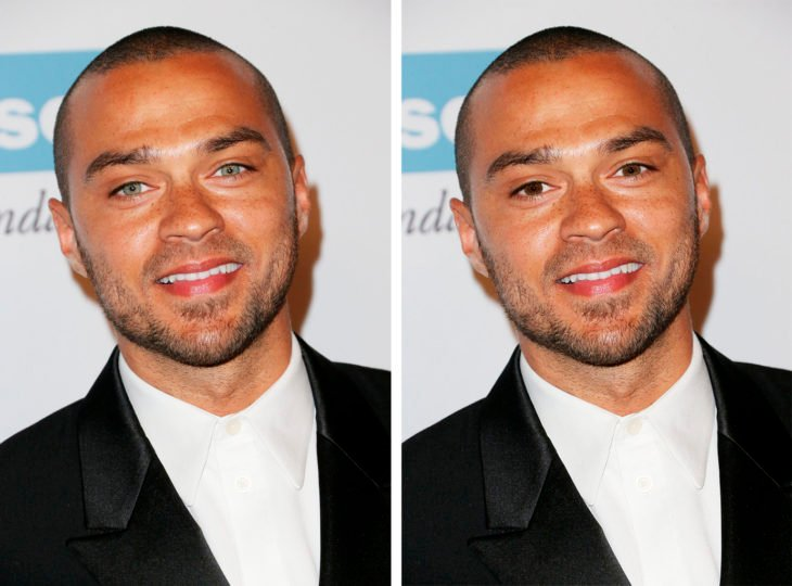 comparación de ojos de color en Jesse Williams