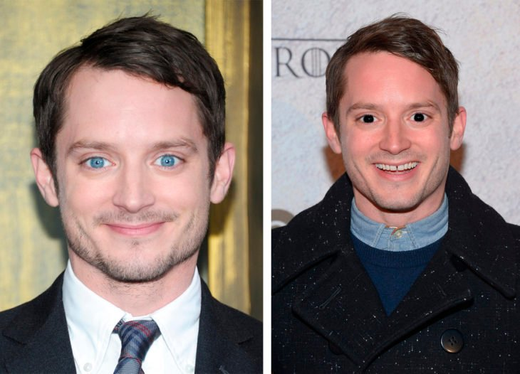 comparación de ojos de color en Elijah Wood