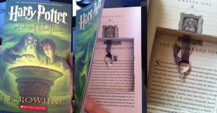 Propuesta, en el libro de Harry Potter todo cortado adentro y un anillo amarrado