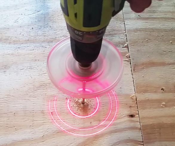 taladro con puntería laser
