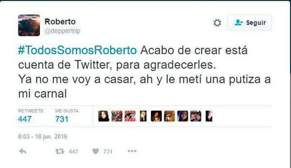#TodosSomosRoberto ROBERTO AGRADECE