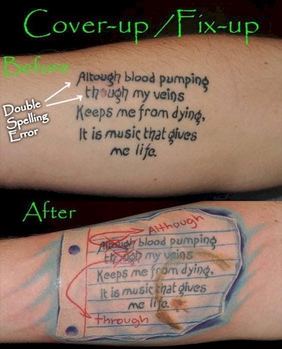 tatuaje ortografía