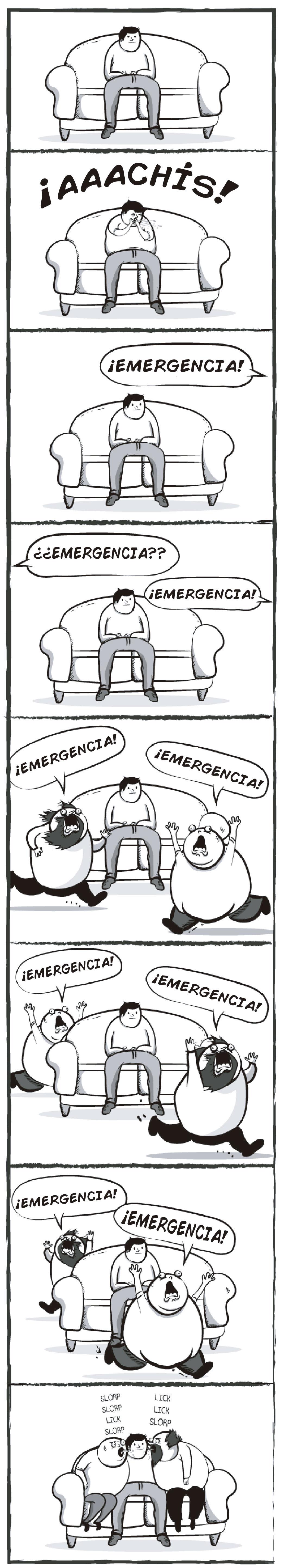 Ilustraciones Matthew Inman, si mis perros fueran dos hombres de mediana edad: emergencia