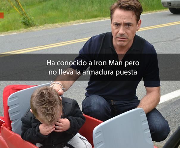 Robert Downey Jr. junto a bebé llorando