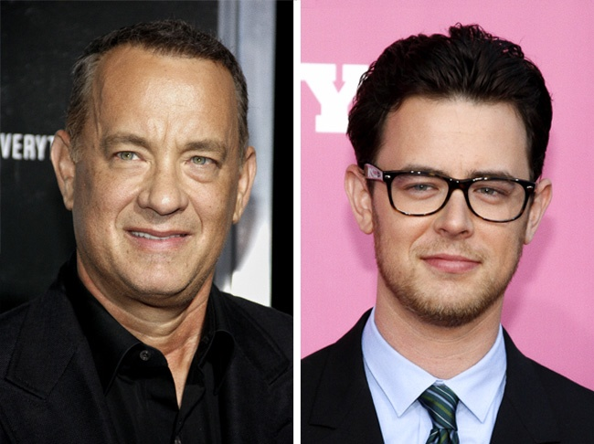 Comparación de Tom Hanks y su hijo Collin
