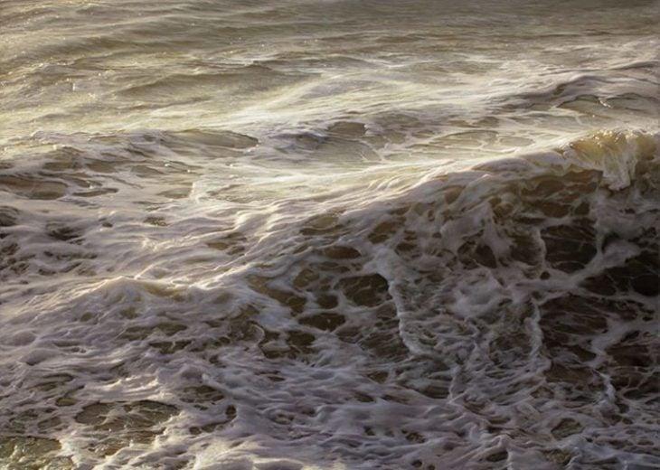 pintura de las olas del mar