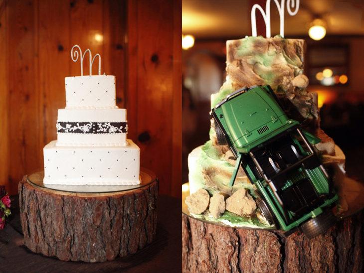 pastel con camioneta