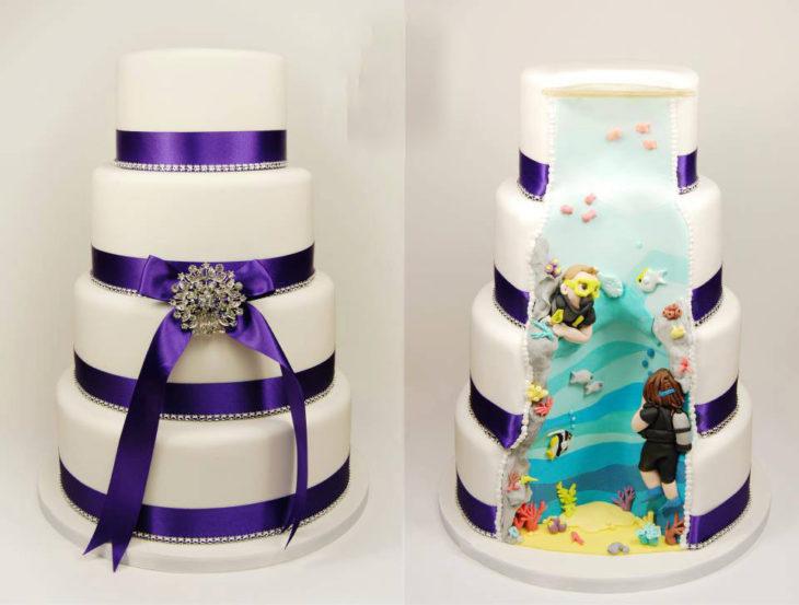 pastel decoración mar