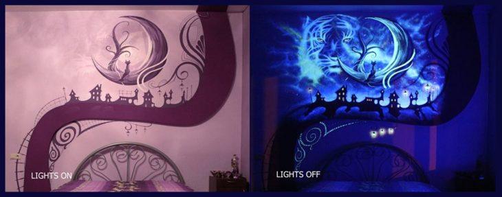 cuarto mágico luces apagadas y encendidas