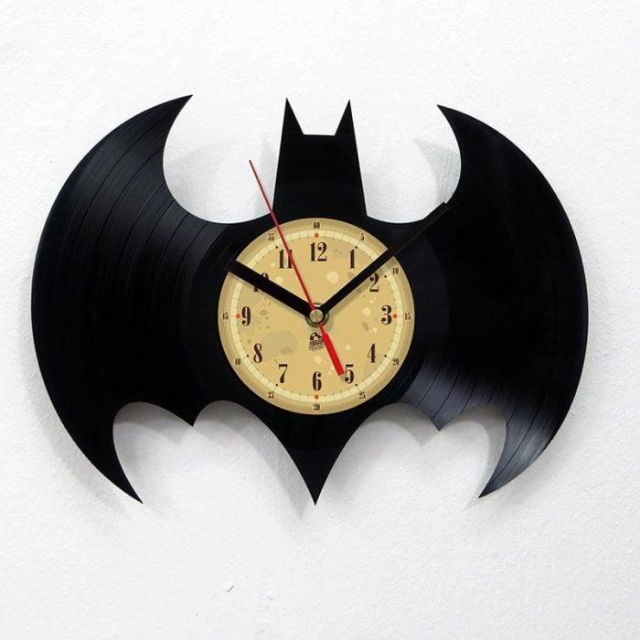 reloj batman de disco de vinilo