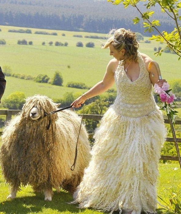 vestido de novia lana