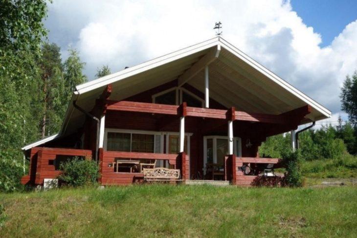 casa vermelha na Finlândia