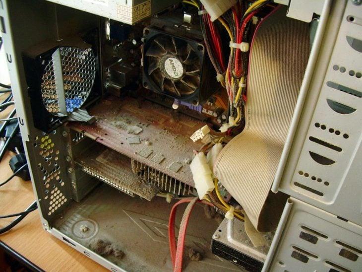 ordenador sucio