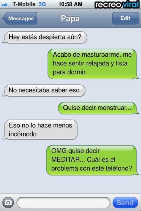 mensaje de texto menstruación
