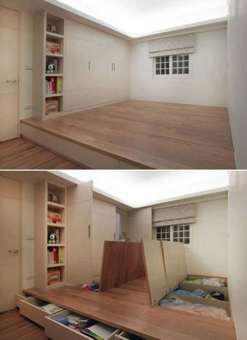 compartimentos en el piso