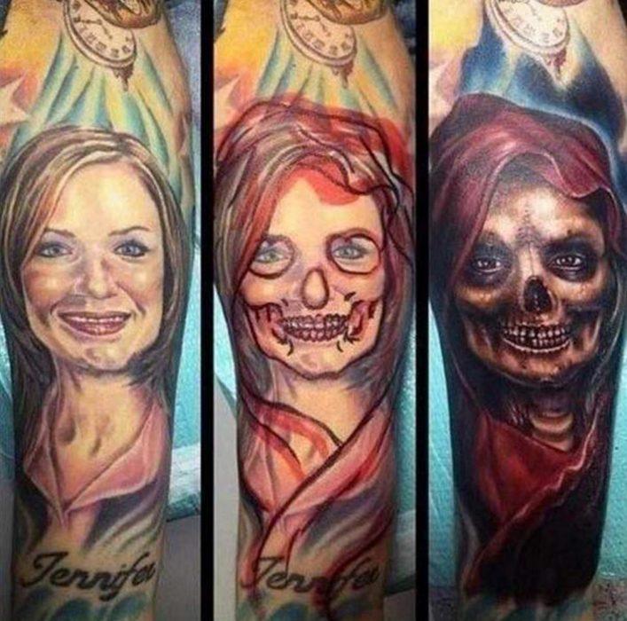 cover up tatuaje de mujer en la muerte