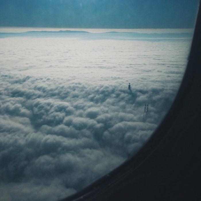 fotografía nubes tomada con iphone