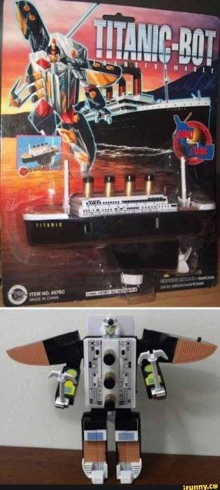 titanic-bot juguete pirata
