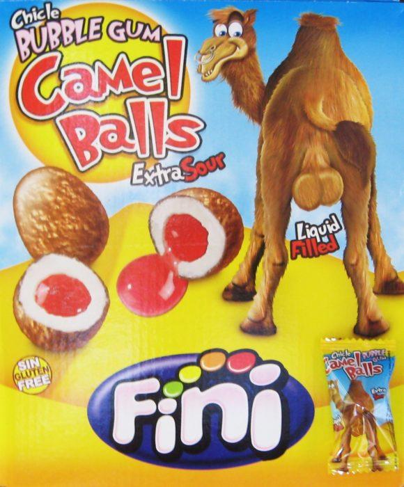 goma de mascar bolas de camello