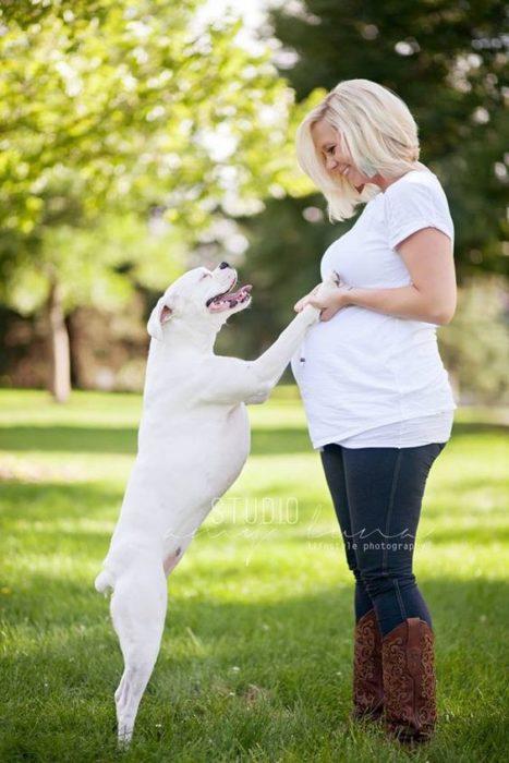 perito feliz de esperar bebé humano