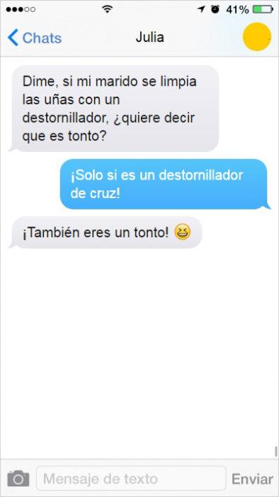 mensaje de texto esposo tonto