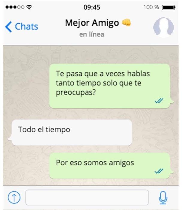 por eso somos amigas mensaje de texto
