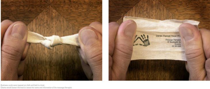 tarjeta de presentación nudo masajista