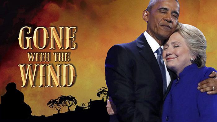 obama y hillary lo que el viento se llevó