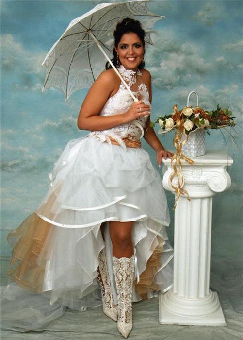vestido de novia feo