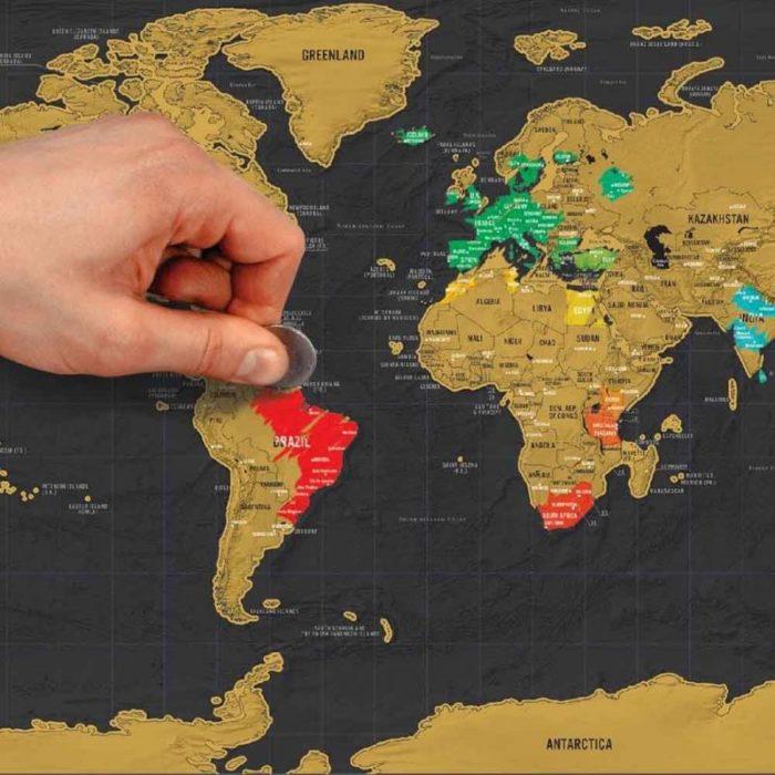 mapamundi para rascar los países que has visitado