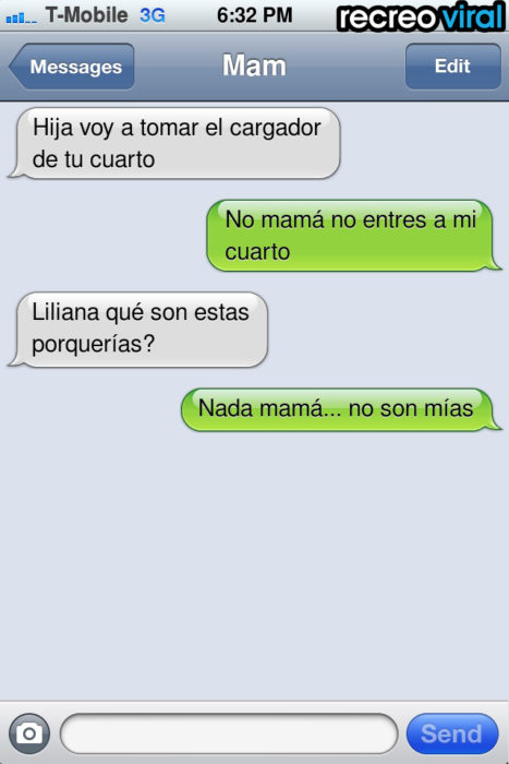 mensaje de texto entrar a tu cuarto