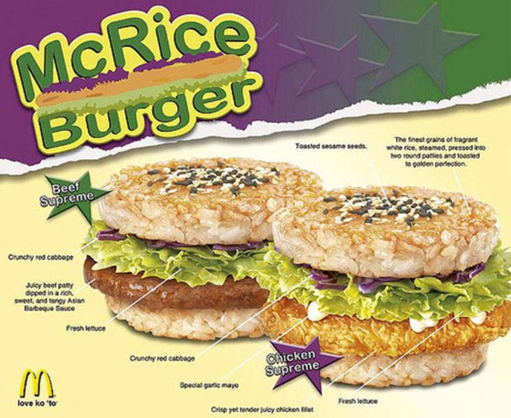 hamburguesa de arroz