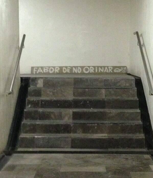 Favor de no orinarse, metro