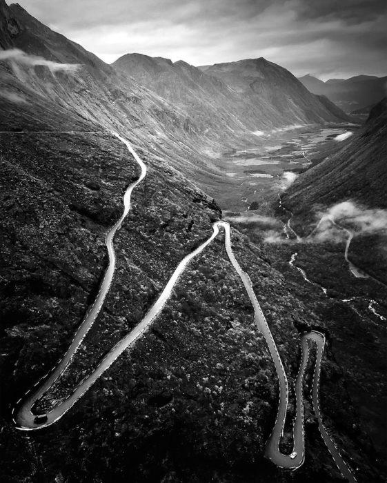 fotografía paisaje a blanco y negro
