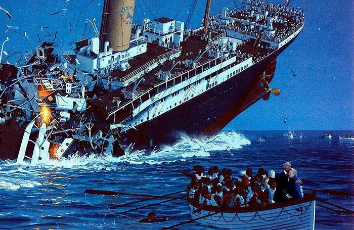 el titanic, abrazo de obama y hillary