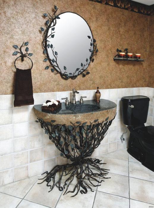 lavabo inspirado en el bosque