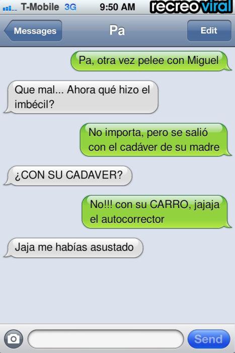 mensaje de texto pelea