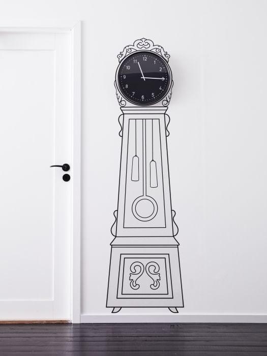 reloj mueble pintado