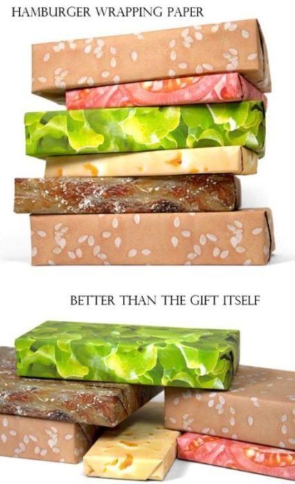 papel de regalo envoltura de hamburguesa