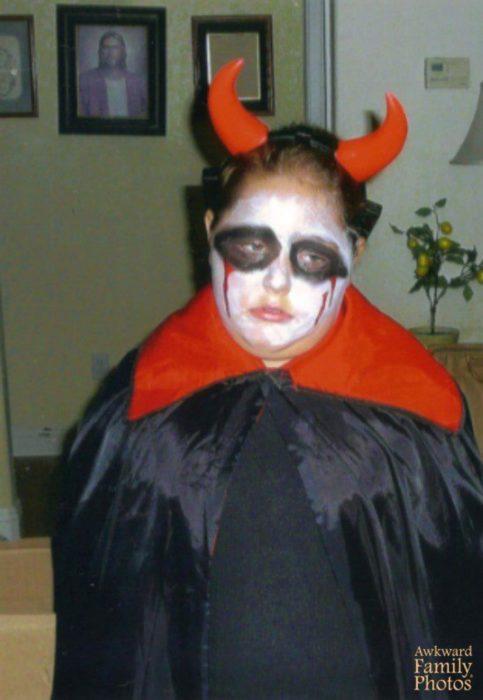 disfraz gracioso de diablo